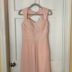 Blush pink bridesmaids / formal dress